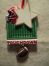 "KSA ""FOOTBALL WITH EQUIPMENT DANGLE"" Ornament ~ Personalizable ~ Great Gift Idea"