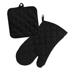 Set of Cotton Pot Holders and Oven Mits Mitt Glove Heat Resistant Protector NEW