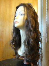 "European Multidirectional 22"" Wavy Wig Sheitel Medium Brown color 4 medium cap"