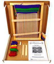 """Harrisville Designs LAP LOOM """"B"""" Wooden 14.5"""" x 18.5"""" Complete with Yarn EUC!"""