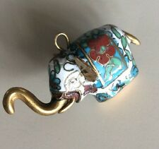 Lucky Enamel Multicolored Elephant Necklace Charm