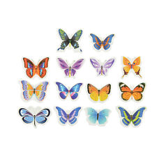 50X Butterflies Wedding Birthday Wafer Paper Cupcake Cake Topper MW