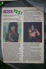 KISS Bananas magazine pages No! Yes! facts 2 pages rock group band interviews