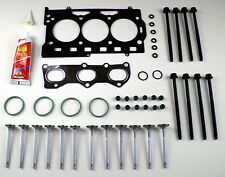 HEAD GASKET SET BOLTS VALVES POLO FABIA IBIZA ROOMSTER CORDOBA PRAKTIK 1.2 12V