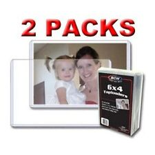 50 Postcard or 4 x 6 Photo Print, Card Holders Protectors, BCW brand Strong Firm