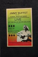 Jimmy Buffett Key West Tour Poster 1977 #1 Blue Moon Saloon