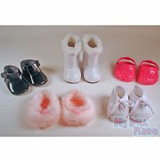 "Shoe Lot - Boots Sneakers Slippers Black Pink fit 18"" American Girl Doll Clothes"