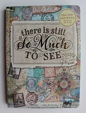 *PUNCH STUDIO Gold Foil Journal ~Travel Diary ~MAP~there is still So Much TO SEE