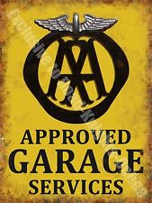 AA Garage Services Vintage 132 Mechanic Old Advertising, Large Metal/Tin Sign