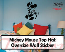 Walt Disney - Mickey Mouse Top Hat Cartoon Logo Wall Vinyl Sticker