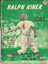 1950-51 Barnes All-Star Library Ralph Kiner Book The Heir Apparent  AUTO + Card