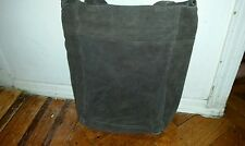Women Vintage Genuine Brown Suede Leather Tote Shoulder Bag Handmade Purse
