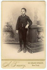 Cabinet Photo - New York - Young Man Standing, Knickers, Jacket, Watch Fob