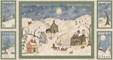 Red Rooster Too Many Men Quilt FABRIC SET- Snowman/Winter Scene -  1 2/3 yds