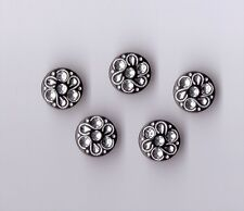 BLACK DIAMANTE EFFECT SHANK BUTTONS  SIZE 24 X 5 - BRIDAL,GOTHIC,FASHION,- (CX7)
