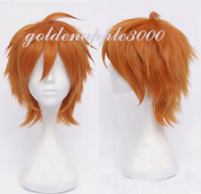 "12"" 30cm Black Butler Doroseru Short Layer Orange Cosplay Wig Party Wigs"