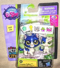 Kitty Cats Keena & Honeybelle Catley W Stickers Littlest Pet Shop #39 &40 LPS