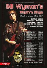 Bill Wyman's Rhythm Kings 'BACK IN THE UK 2011' Tour A5 Flyer New