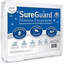 SureGuard FULL 6-8 in Deep Mattress Encasement 100% Waterproof, Bed Bug Proof