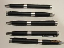 LOT OF 5 TERZETTI TESTA MATTE BLACK METAL BALLPOINT PENS-SLIM PEN