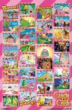 CANDY CRUSH SAGA POSTER ~ 31 SCENES 22x34 Video Game King Facebook Worlds