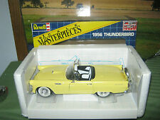 1956 Ford Thunderbird Yellow Revell Scale Masterpieces Diecast Metal 1/18 Scale