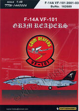 TOPTIERHOBBY decal 1/48 F-14A VF-101 Grim Reapers 2001-2003