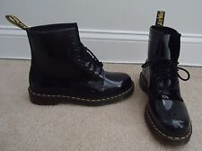 DR. MARTENS Mens 1460 Black Patent Leather 8 Eye Boots Sz 10 NEW!