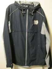 $75 Under Armour Navy Blue Notre Dame Storm Water Resistant Zip Hood Jacket Sz L