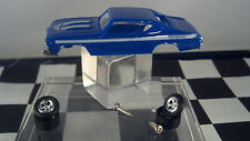 1969 CHEVY Chevelle Yenko S/C Blue  T-JET New Ho Scale Slot Car Body/WHEEL Kit