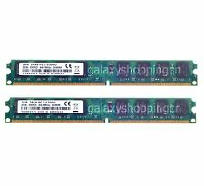 4GB 2X 2GB PC2-5300 DDR2-667MHz 240pin DIMM Desktop RAM Memory Unbuffered Intel