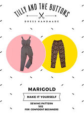 TILLY AND THE BUTTONS MARIGOLD JUMPSUIT TROUSER SEWING PATTERN HANDMADE 1012