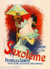 Saxoleine Vintage French France Poster Picture Print Advertisement