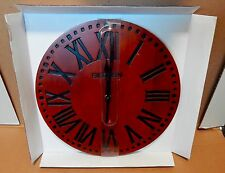"Big Ben Westclox 12"" Solid Wood Wall Clock Quartz Analog Roman Numerals NIB 78V"