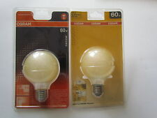 OSRAM DECOR GLOBE G80 E27 60W Bernstein Ice Gold  Globelampe ø 80mm