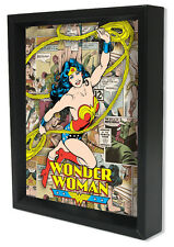 WONDER WOMAN-PANELS8x10 3D SHADOWBOX DC COMICS GODDES GAMER MOVIE HERO GIRLPOWER