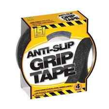 Black High Grip Anti Slip Tape Adhesive Backed Non Slip Tape Safety Flooring New