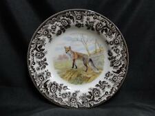 """Spode Woodland Red Fox, Made in England: Salad Plate (s), 7.75"""", NEW w/ Orig Box"""