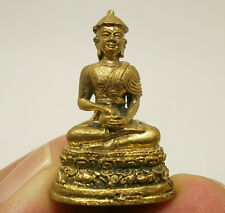 BUDDHA MINIATURE UPAKOOT LOTUS ARAHAN THAI MINI BRASS AMULET LUCKY BUDDHISM GIFT