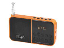 RADIO FM CON LETTORE MP3 E MICRO-SD - TREVI DR740SD ARANCIONE