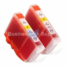 2 YELLOW CLI-8 CLI-8Y Ink Tank for Canon PIXMA MX700 IP3300 IP3500 CLI-8 CLI-8Y