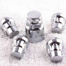 1/2-20 Qty 4,Locking Lug Nuts / Wheel Locks Closed Bulge Acorn /Cone Seat Chrome