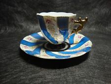 **Occupied Japan Collectors-Blue & White-Demitasse Cup with Saucer**