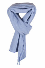 Ladies 100% Cashmere Scarf Wrap - Sky Blue - hand made in Scotland RRP £250