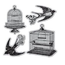 STUDIO G HAMPTON ART CLING BIRD CAGES Rubber Stamp