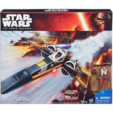 Star Wars Poe Dameron  + X-wing star fighter Action Figures and ship
