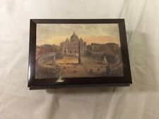 """Vintage Lacquered Wood Music Box Made In Italy, Plays """"Love Story"""""""