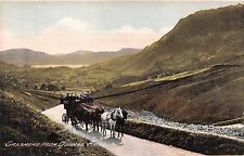 GRASMERE CUMBRIA UK VIEW FROM DUNMAIL RAISE~HORSE DRAWN COACH POSTCARD