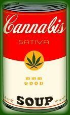 """3.25"""" Funny Marijuana sticker. Campbell's CANNABIS SOUP. 420 For your bong"""