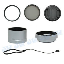 49MM CPL UV FILTER KIT + METAL LENS ADPTER TUBE HOOD CAP FOR LEICA X1 X2 CAMERA